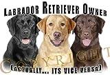 "Labrador Retriever Mouse Pad Dog Mousepad ""Vice Versa"""