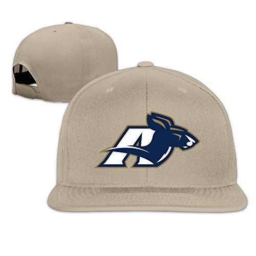 ElishaJ Flat Billed University Of Akron Baseball Cap Hat Natural (Colt Mascot Costume)