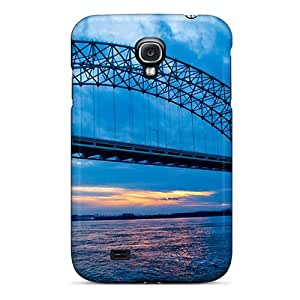 KarenJohnston Perfect Tpu Case For Galaxy S4/ Anti-scratch Protector Case (bridges At Dusk)