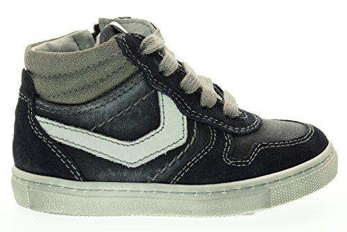 NEGRO JARDINES secundaria altas zapatillas de deporte A623990M / 200 (19/22) Blu-bianco