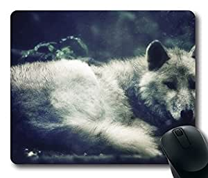 White Wolf 4 Mouse Pad Desktop Laptop Mousepads Comfortable Office Mouse Pad Mat Cute Gaming Mouse Pad
