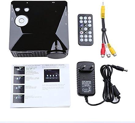 Proyector, Crenova BL-18 Mini proyector LED portátil 320x240 ...