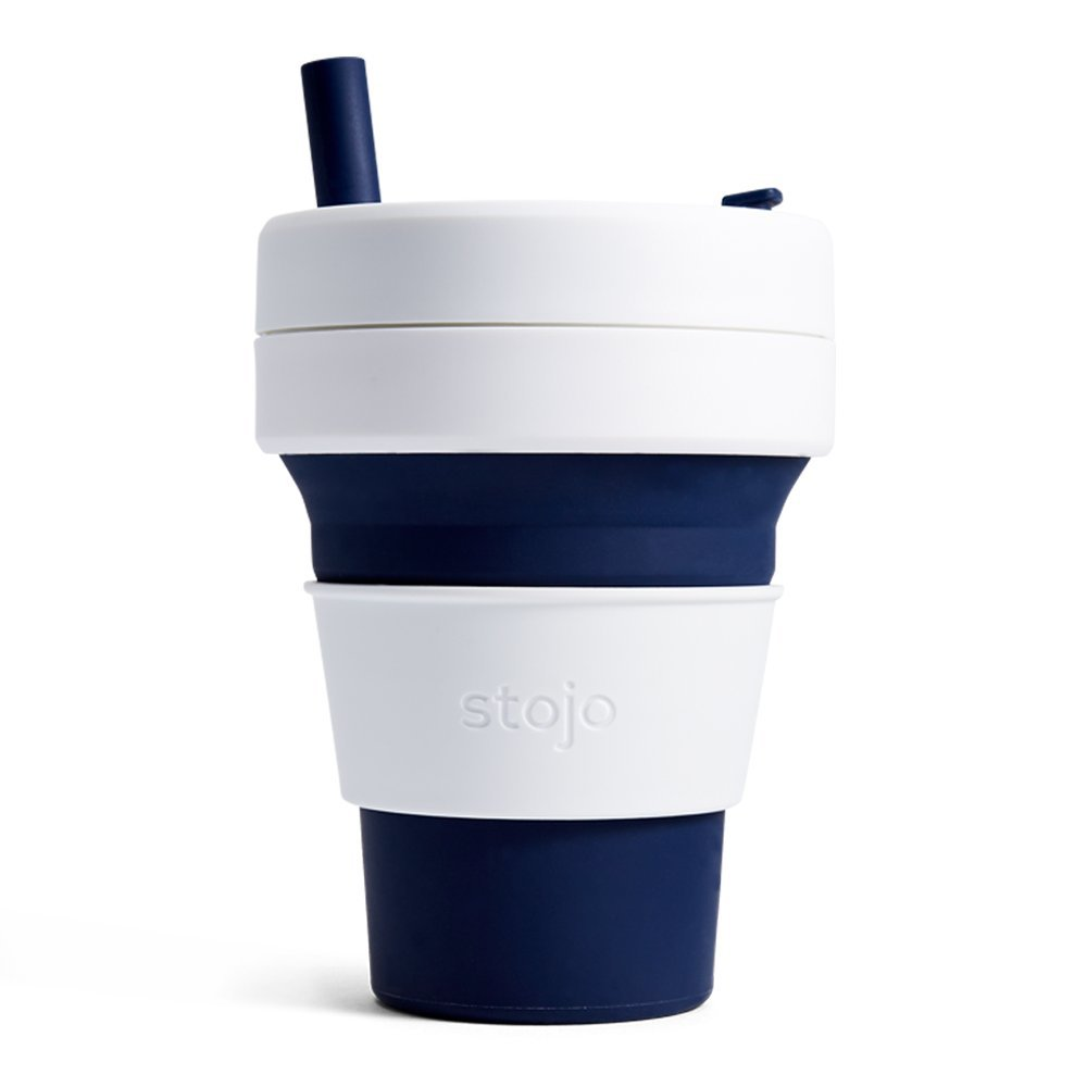 Stojo S2-IND Silicone Collapsible Cup, Biggie 16oz, Indigo by STOJO