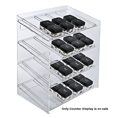 Retail 4-tiered 16 Compartment Cosmetic Counter Display for Pegboard or Slatwall by Cosmetic counter display