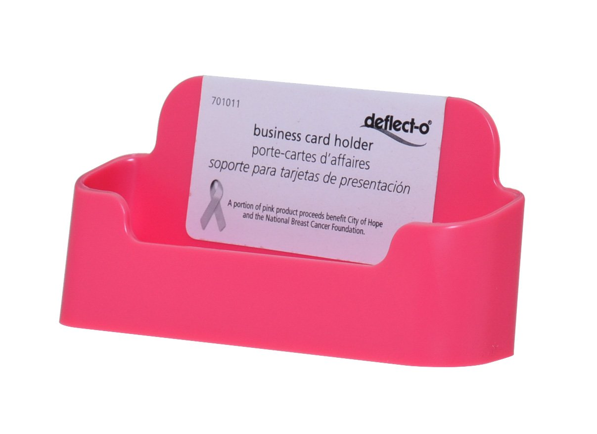 Amazon Com Deflecto Pink Business Card Holder 2 Pack Office Products