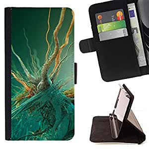 DEVIL CASE - FOR Sony Xperia Z2 D6502 - Bacteria Macro - Style PU Leather Case Wallet Flip Stand Flap Closure Cover