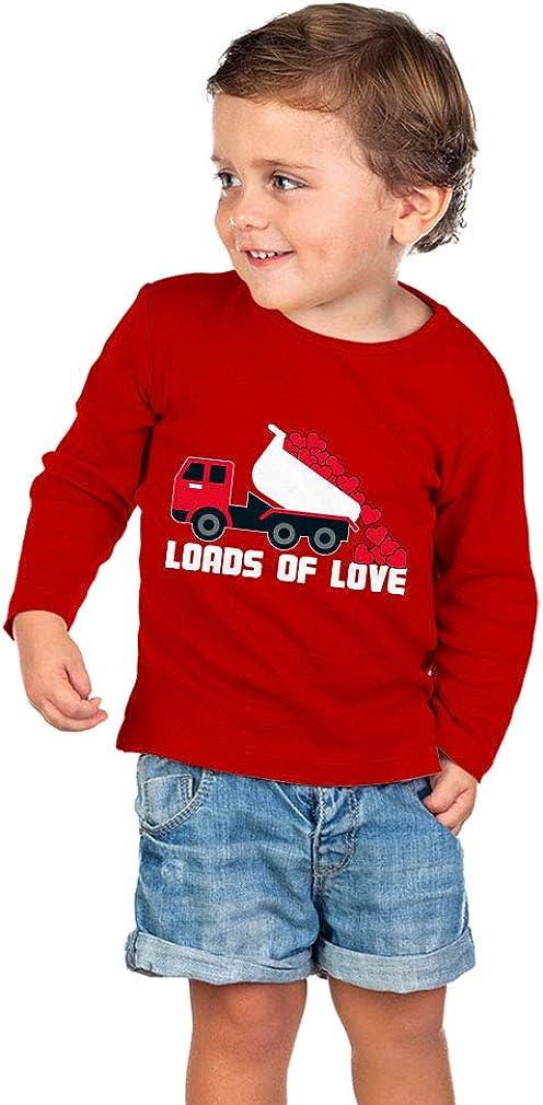 Valentines Day Dump Truck Loads of Love Toddler//Kids Long Sleeve T-Shirt