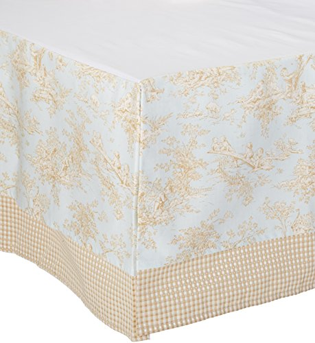 Skirt Glenna Cotton Jean Crib (Glenna Jean Crib Skirt Central Park Dust Ruffle for Baby Nursery Crib)