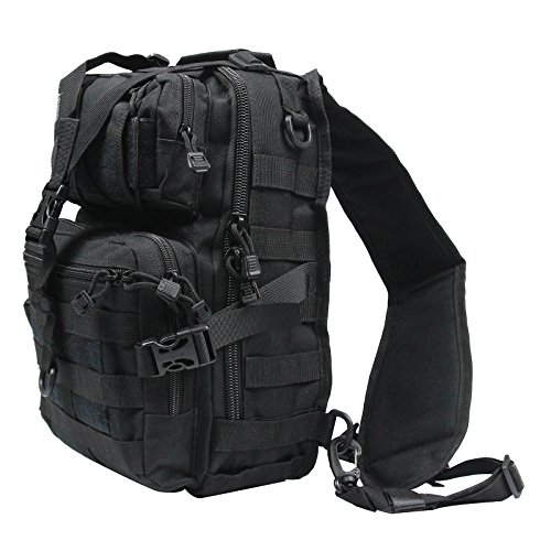 Tactical Gear Molle Multifunctional Sling Shoulder Backpack Daypack Bag for Camping Hiking