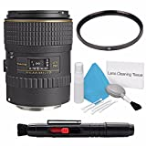 Tokina 100mm f/2.8 AT-X M100 AF Pro D Macro Autofocus Lens for Canon EOS (International Model) No Warranty+Deluxe Cleaning Kit + Lens Cleaning Pen + 55mm UV Filter Bundle 3
