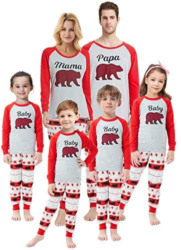 Matching Family Christmas Pajamas Women Men Pjs Girls Handmade Bear Sleepwear Baby Boys Clothes 2t