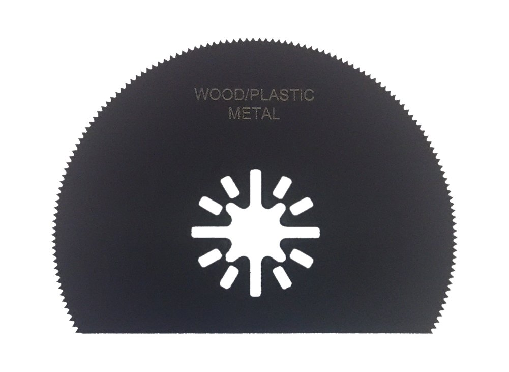 Zenith Industries ZN180003 Semi Circle Osaw Blade for Wood, Plastic & Drywall, 3-1/8''