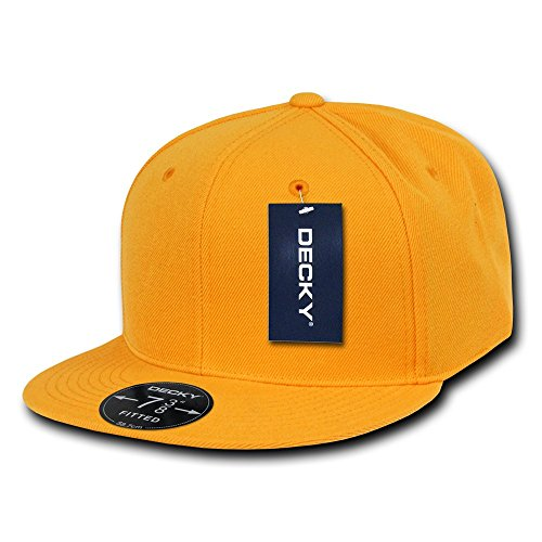 DECKY Retro Fitted Cap, Gold, 7 3/8