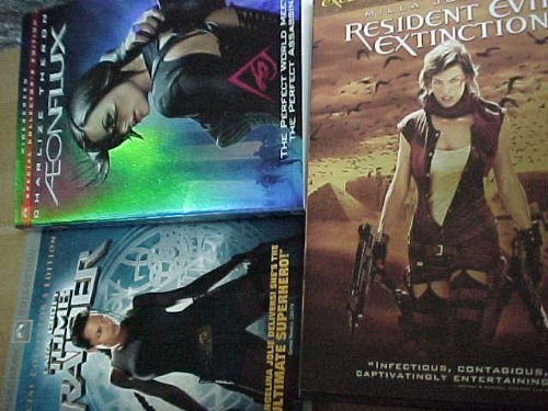 Aeonflux , Tomb Raider , Resident Evil Extinction : Female Action Triple Pack Collection