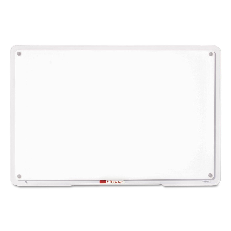 Quartet TM3623 Dry-Erase Board,Translucent Edge, w/Marker, 36''x23''