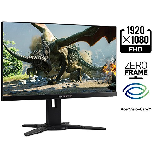 Acer Predator XB252Q Bmiprz 24.5-Inch Full HD (1920x1080) NVIDIA G-Sync Monitor (Display Port & HDMI Port, 240Hz)