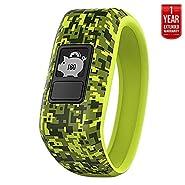 Garmin Vivofit Jr. Activity Tracker for Kids, Regular Fit - Digi Camo (010-01634-01) + 1 Year Extended Warranty