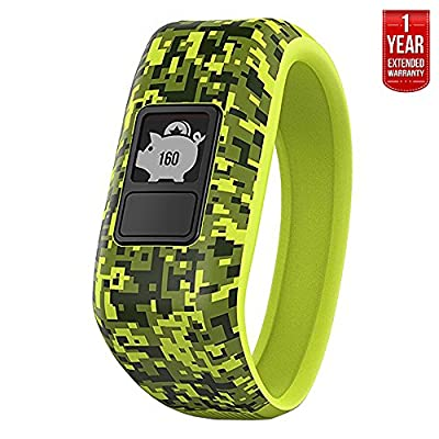 Garmin Vivofit Jr. Activity Tracker for Kids, Regular Fit + 1 Year Extended Warranty