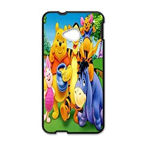 Happy Winnie the pooh Case Cover For HTC M7