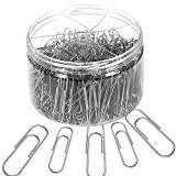 Selizo 500 Pieces Silver Paper Clips with Medium and Jumbo Size (28 mm, 50 mm)