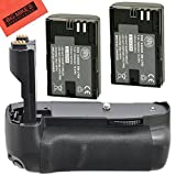 Battery Grip Kit for Canon EOS 7D Digital SLR Camera Includes Qty 2 Replacement LP-E6 Batteries + Vertical Battery Grip + More!!