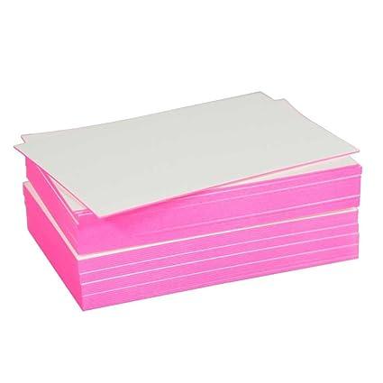 Blanko Visitenkarte Mit Farbschnitt Pink Amazon De