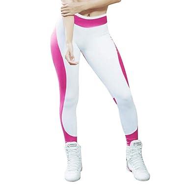 VJGOAL Mujeres Casual Moda Empalme Pantalones de Yoga Sexy ...