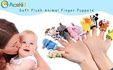 Zehui 10PCS, Juguete de Dedos para los Niños, Marionetas de Dedo de Animales, Muñecos Monos de Niños, Juguetes (Patrón Aleatorio)