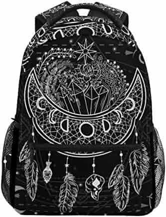 4b5ac81fb742 U LIFE Backpack School Bags Laptop Casual Bag for Boys Girls Kids Men Women  Black Vintage