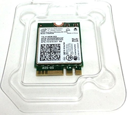 Intel Dual Band Wireless-AC 3160 3160NGW 802.11ac/a/b/g/n BT4.0 NGFF Wifi Card 2.4/5.8Ghz by Huasijie