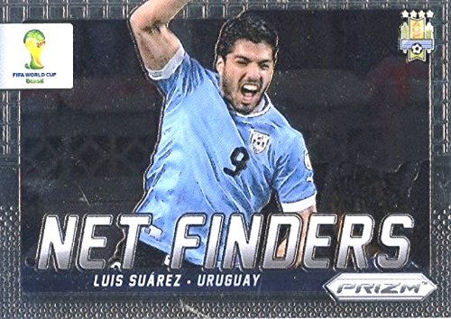 2014 Panini Prizm World Cup Net Finders #24 Luis Suarez in Mint Condition! Uruguay Superstar! Shipped in Ultra Pro Top Loader to Protect it! (Uruguay Mint)