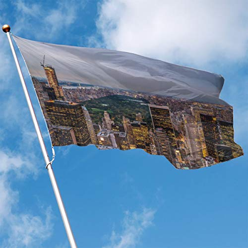 DENETRI Fly Breeze 3 X 5 Foot Flag Prosperous City Vivid Color and UV Fade Resistant Canvas Header and Double Stitched Garden Flags -