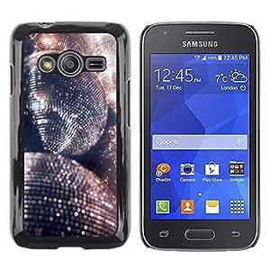 Be Good Phone Accessory // Dura Cáscara cubierta Protectora Caso Carcasa Funda de Protección para Samsung Galaxy Ace 4 G313 SM-G313F // disco ball glitter silver ball dance party