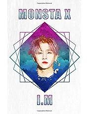 "Monsta X I.M: Acrylic Paint Portrait Watercolor Polygon Splash 100 Page 6"" x 9"" Blank Lined Notebook | Kpop Merch Journal Book for Monbebe Fandom"