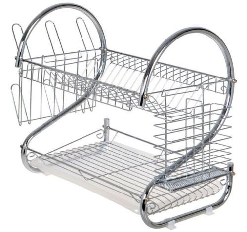2 Tier Multifunctional Folding Kitchen Dish Rack - 5
