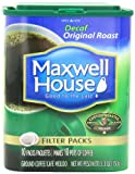 Cheap Maxwell House Original Roast Ground Coffee, Decaffeinated, 10-Count Filter Packs (Pack of 4)