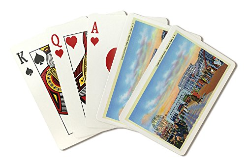 Coney Island, New York - Steeplechase Park View (Playing Card Deck - 52 Card Poker Size with Jokers) (Island Coney Steeplechase)