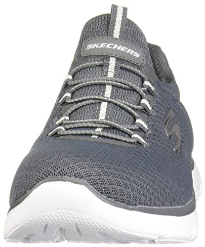 Skechers Gris Charbon Femme Through Break Dynamight Chaussures naqOn7xWFg