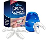 EZSleep Professional Dental Guard - 4 Piece Kit - Stops Teeth Grinding, Bruxism, TMJ & Eliminates Teeth Clenching - Includes Fitting Instructions & Anti-Bacterial Case!