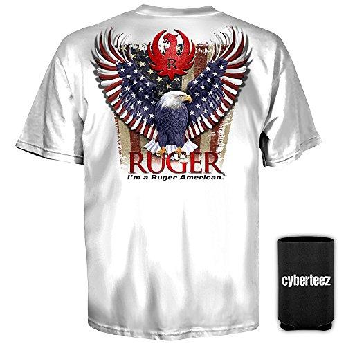 Sturm Ruger & Co American Eagle Logo WHITE T-Shirt (L)