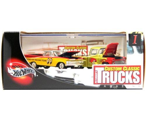- '59 EL CAMINO & '69 CHEVY APACHE * Limited Edition * Hot Wheels 2002 PETERSEN'S CUSTOM CLASSIC TRUCKS MAGAZINE 1:64 Scale 2-Car Custom Vehicle Box Set