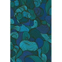 Journal: Swirls (Blue) 6x9 - GRAPH JOURNAL - Journal with graph paper pages, square grid pattern (Spirals and Swirls Graph Journal Series)