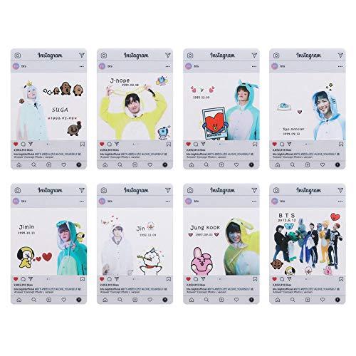 Youyouchard BTS Bangtan Boys Love Yourself 结Answer BTS Photocards Kpop BTS Transparent Cards TPU Bangtan Boys Suga Jimin Jungkook Photo(H06: (8PCS))