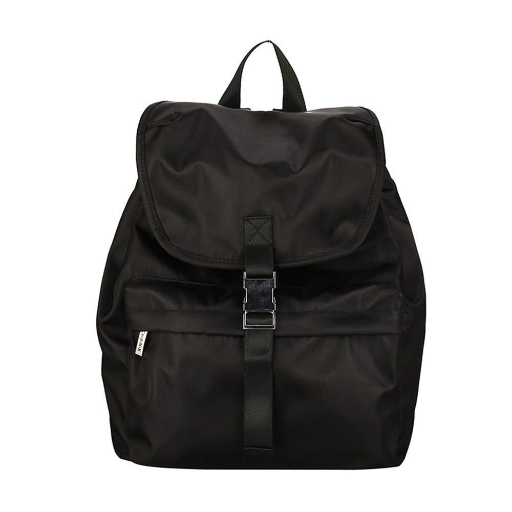 DYR Student Bag Men and Women Nylon ckpack Waterproof Backpack Casual Shoulder Bag Large pacity Travel Bag Handbag, Black, 26 Inch