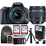 Canon EOS Rebel SL2 SLR Camera w/ 18-55mm f/4 STM Lens + Canon DSLR Bag, 48GB, Filter Kit, Flash & Bundle