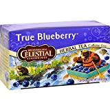 Celestial Seasonings Herbal Tea – Caffeine Free – True Blueberry – 20 Bags – Gluten Free – Kosher