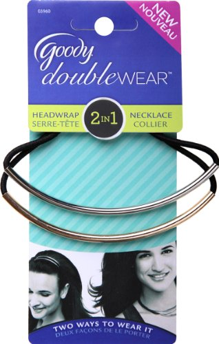 Goody Double Wear Long Metal Bar Headwrap - 2 per pack -- 3 packs per case.