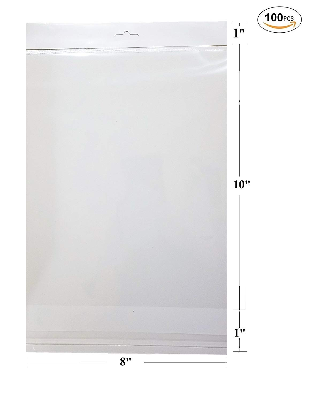 Amazon.com: 100 pcs blanco colgante cabecera transparente ...