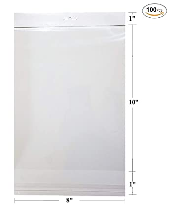 Amazon.com: 100 pcs blanco colgante cabecera transparente ...