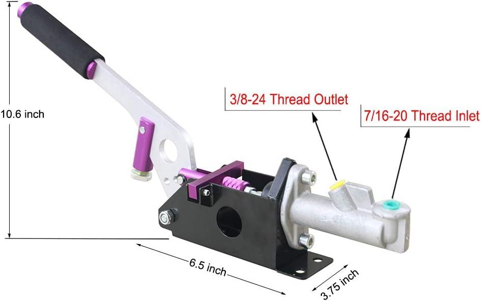 Blue Hydraulic Handbrake Universal Ebrake Fit For Drift Track Rally Racing Emergency Parking E-Brake Adjustable Pre-Load /& Pin Locations Vertical Horizontal/Position With Anti-Slip Sponge Handle